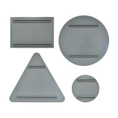 2.5mm Aluminium Panels with Sign Channel - Grey/Mill Finish