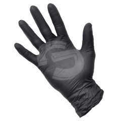 Black Chemically Resistant Nitrile Powder Free Disposable Gloves