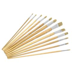 Flat & Round Fitch Brushes