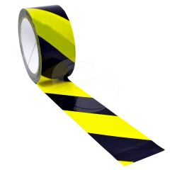 Hazard Floor Marking Tape Black & Yellow - 50mm x 33m