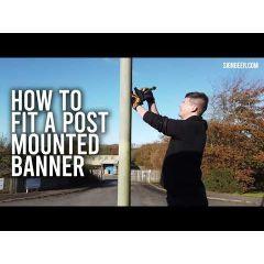 Banner Lamp Post Bracket Kit - Spring Loaded