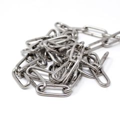 Long Link Chain - AISI 316 Stainless Steel (Per 0.5m)
