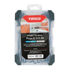 TIMCO Mixed A2 Stainless Steel Screws, Plugs & Drill Bit Starter Pack - 251 Pieces