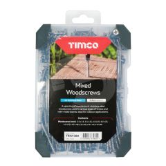 TIMCO Mixed Stainless Steel Woodscrews Starter Pack - 340 Pieces