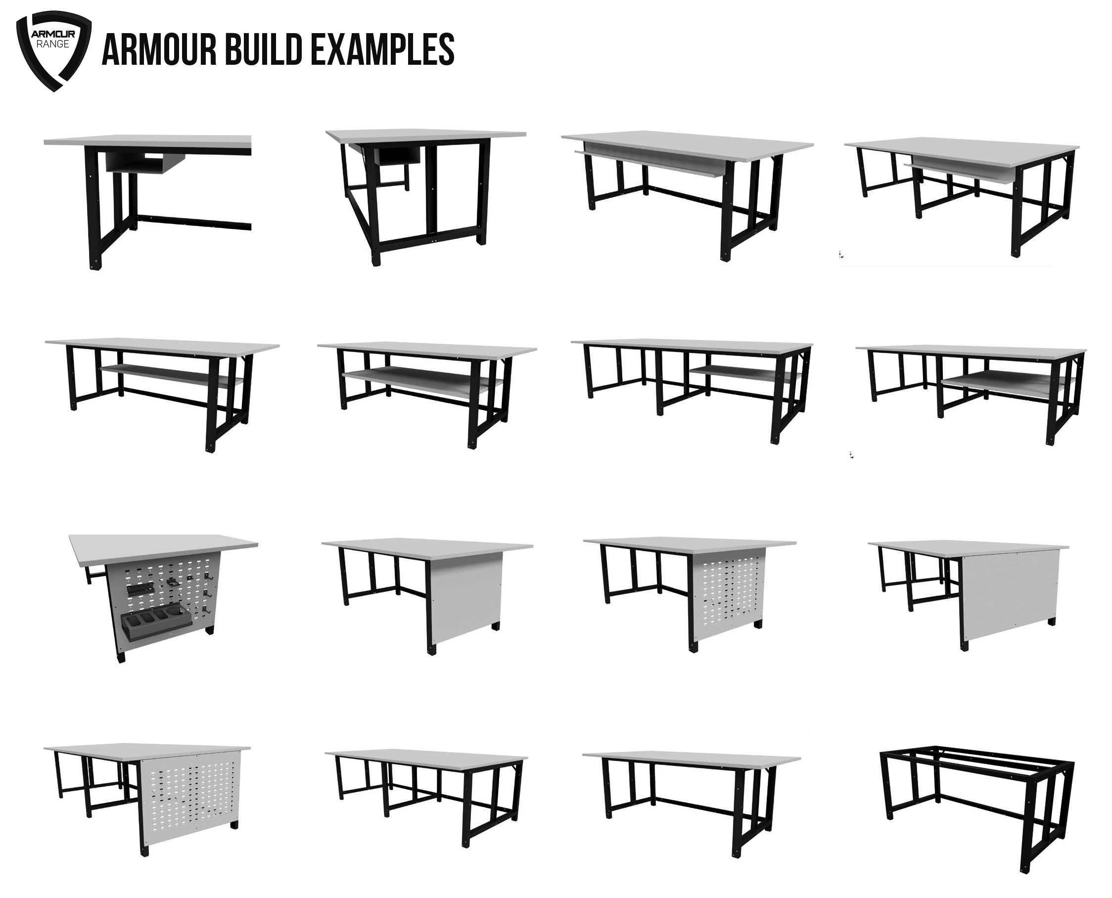 ARMOUR Modular Work Bench Build Examples